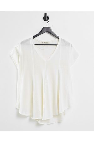 Free People Sammie relaxed t-shirt in burnout-White