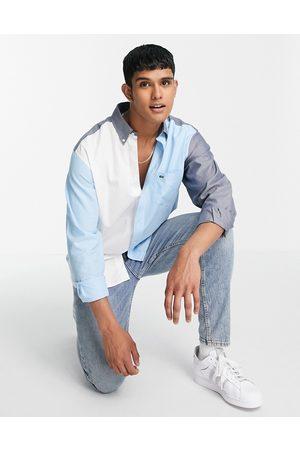 Lacoste Colourblock long sleeve shirt-Blue