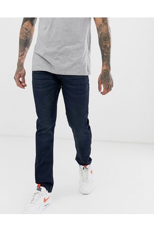 Only & Sons Slim fit super stretch sweat jeans in dark wash-Blue