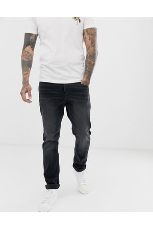 ASOS Stretch slim jeans in washed black