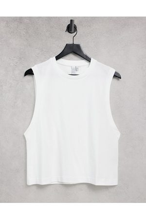 & OTHER STORIES Organic cotton vest top in white
