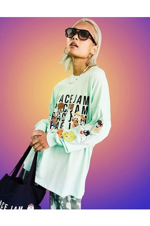 ASOS Dame Kortermede - Space Jam: A New Legacy t-shirt with tune squad graphic in mint-Green