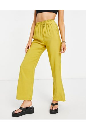 ASOS Relaxed suit jogger in chartreuse-Yellow