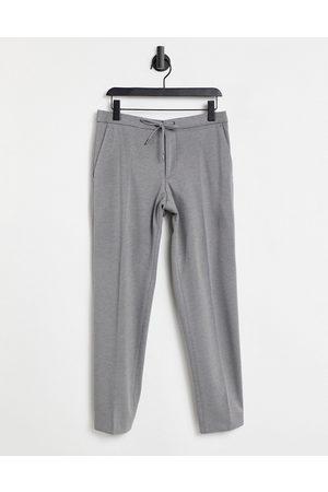 HUGO BOSS Herre Chinos - Business Banks elasticated waist trousers-Grey