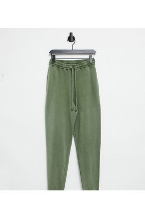 COLLUSION Oversized joggers in acid wash in khaki-Green