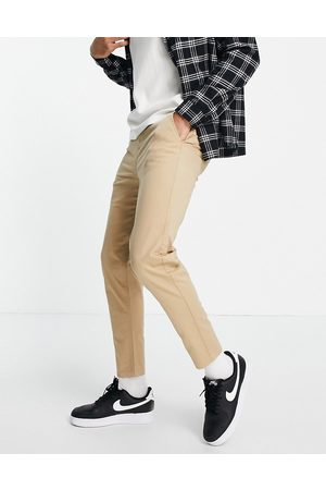 New Look Tapered chino in tan-Brown