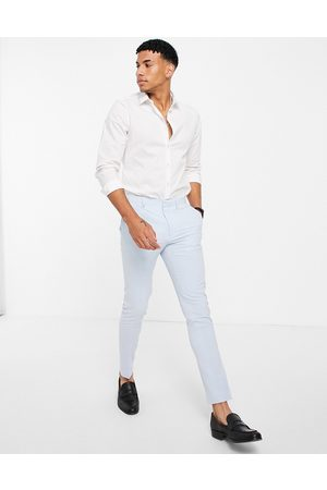 ASOS Super skinny suit trousers in pastel blue