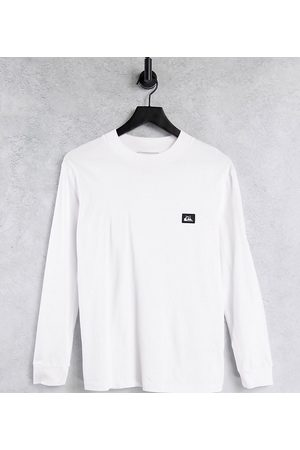 Quiksilver Mock Neck long sleeve t-shirt in white Exclusive at ASOS
