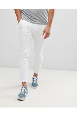 ASOS Super skinny cropped chinos in white