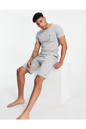 French Connection Jogger set in light grey melange and marine
