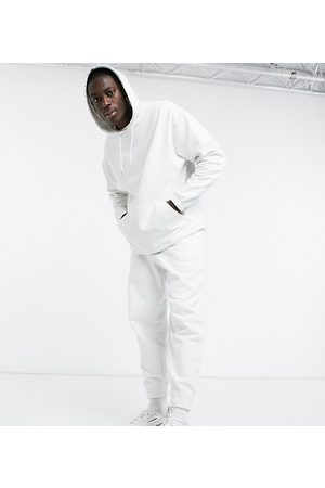ASOS Organic oversized tracksuit with hoodie & oversized joggers in white marl