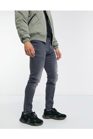 ASOS Skinny jeans in grey with abrasions