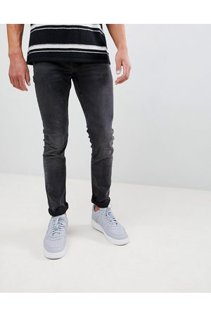 Only & Sons Slim fit stretch jeans in black wash