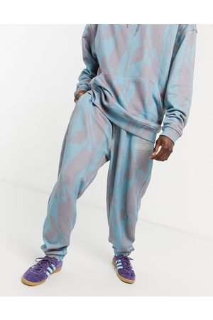 Crooked Tongues Co-ord jogger with brush stroke print-Grey