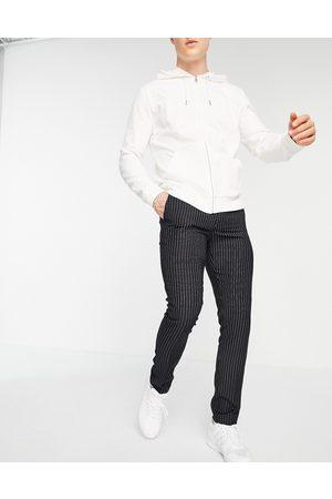 New Look Skinny smart trousers in navy pinstripe