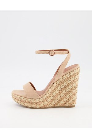 ASOS Tula espadrille wedges in -Neutral
