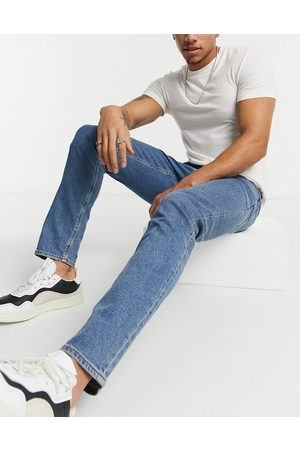 ASOS Stretch slim jeans in flat mid wash blue