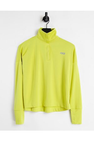 ASOS Icon long sleeve top with 1/4 zip-Green