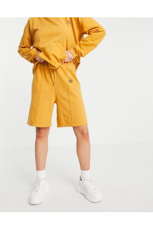 Damson Madder Recycled relaxed shorts co-ord-Orange