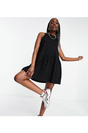 ASOS ASOS DESIGN Tall sleeveless smock dress with v back in black