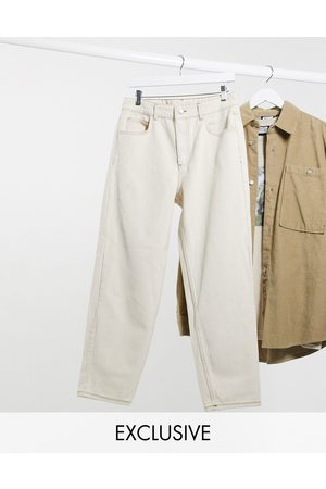 Reclaimed Inspired The '94 classic fit jeans in ecru-White