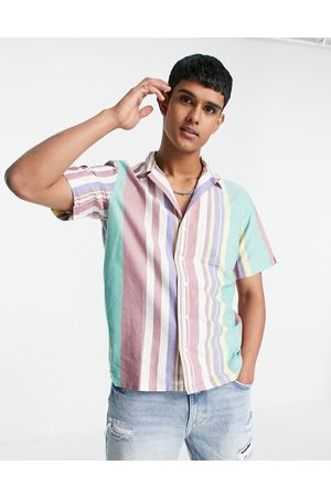 Polo Ralph Lauren Short sleeve stripe oxford shirt open collar classic oversized fit in multi
