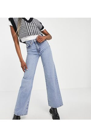 ONLY Hope wide leg jeans with high waist in light blue