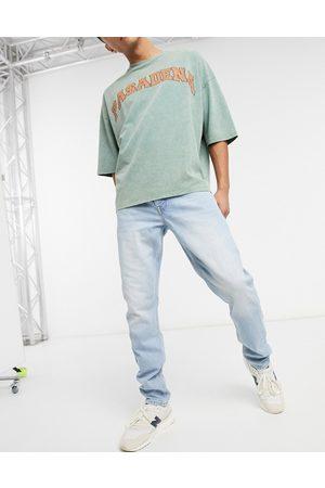 ASOS Slim jeans in vintage bleach-Blue