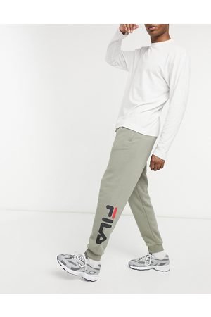 Fila Todd logo tapered joggers in -Neutral