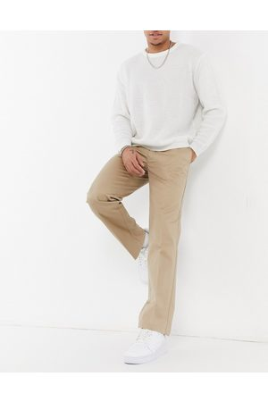 Lacoste Live pleated cotton chinos-Neutral