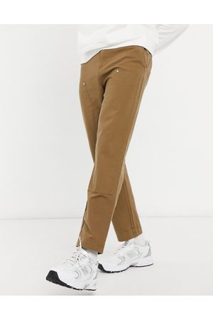 ASOS Skater fit trousers with laid on panels in brown