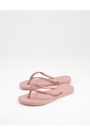 Havaianas Dame Flip flops - Slim Glitter II flip flops in crocus rose-Pink