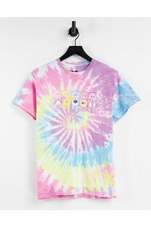 Daisy Street Relaxed t-shirt with care bears print in tie dye-Multi