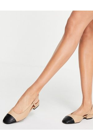 ASOS Lively slingback ballet flats in and black-Neutral