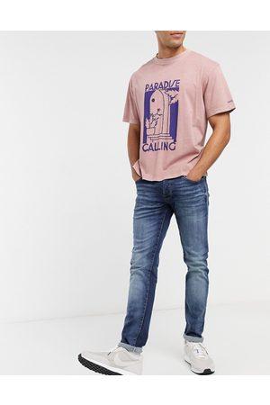 JACK & JONES Intelligence Glenn super stretch slim tapered jean in darkwash blue