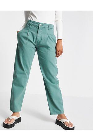 Bolongaro Lulu mom jeans in sea green