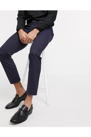 SELECTED Suit trouser with stretch in slim fit navy