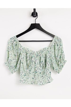 Urban Bliss Floral cupped top in multi