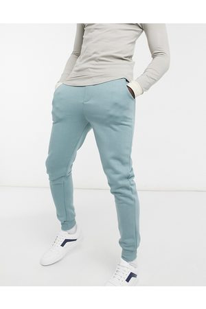 Another Influence Slim fit joggers co-ord in dusty teal-Blue