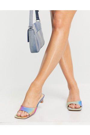 E8 By Miista Sharon mid heeled mules in iridescent rainbow-Multi