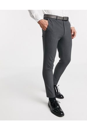 ASOS Super skinny suit trousers in four way stretch in charcoal-Grey