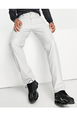 ASOS Dad jeans in light grey leather look