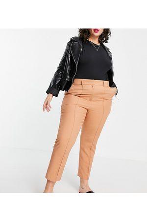 ASOS ASOS DESIGN Curve mix & match ultimate ankle grazer suit trousers-Pink