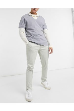 SELECTED Straight chino in -Neutral