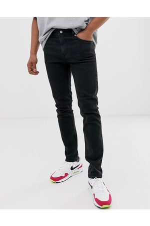 Weekday Friday slim jeans in tuned black