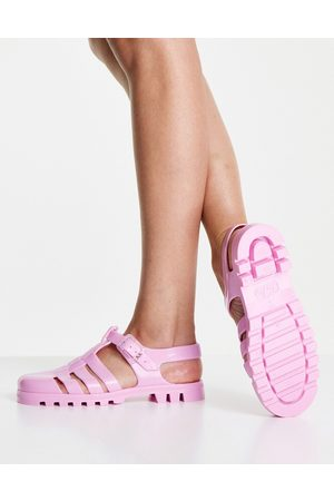 Juju Jelly flat shoes in bright pink