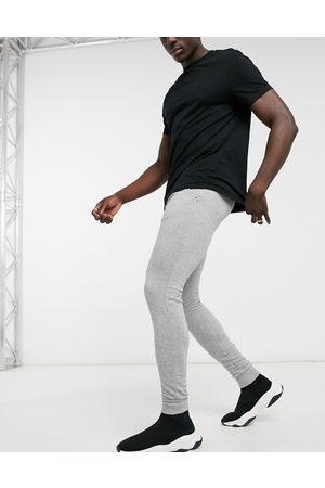 Brave Soul Skinny jogger in light grey marl