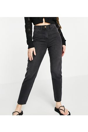 COLLUSION X006 mom jeans in washed black