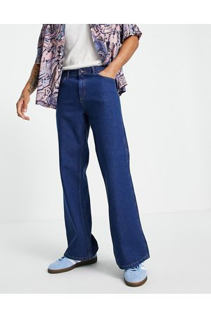 Topman Flared jeans in bright blue