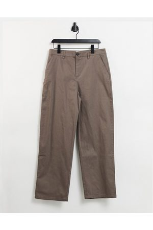 ASOS Chinos in wide fit in brown